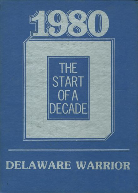 1980 Delaware High School Yearbook Cover