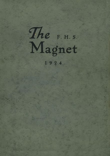 1924 Union Free High School Yearbook Cover