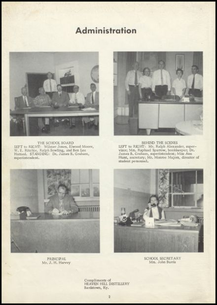 1958 Old Kentucky Home High School Yearbook Page 6