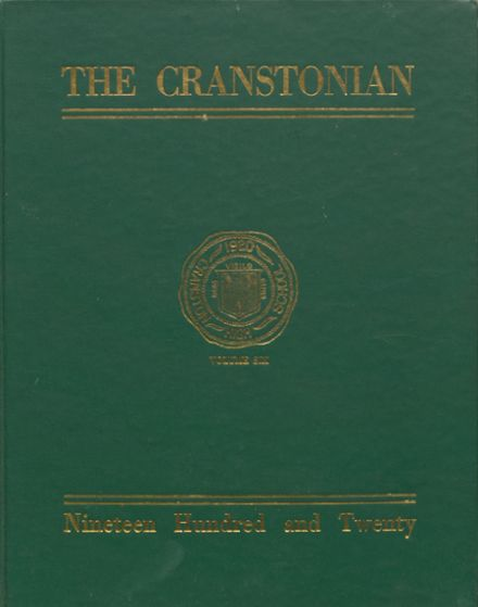 1920 Cranston High School East Yearbook Cover