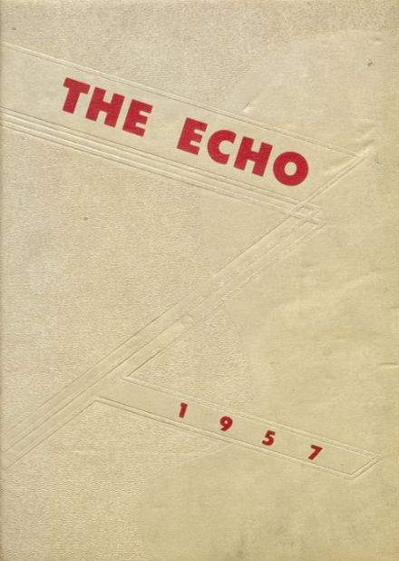 1957 Bland High School Yearbook Cover