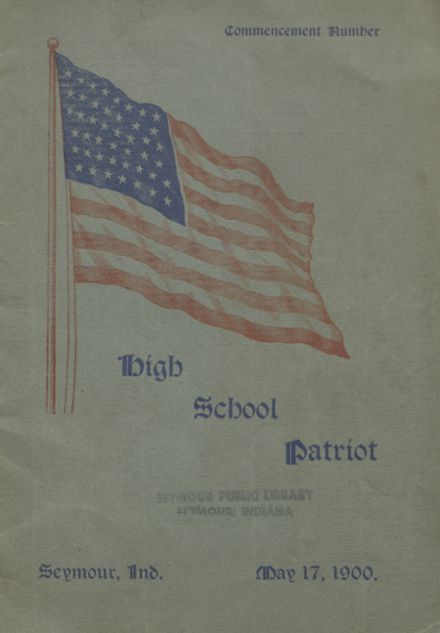 1900 Seymour High School Yearbook Cover
