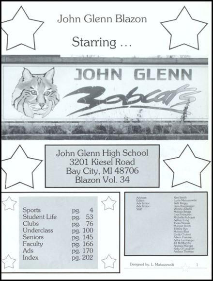 1998 John Glenn High School Yearbook Page 5