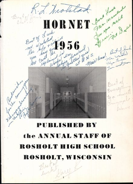 1956 Rosholt High School Yearbook Page 5