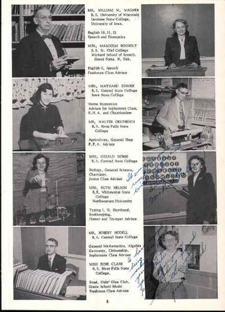1956 Rosholt High School Yearbook Page 9