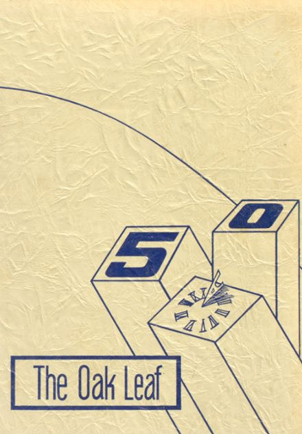 1950 Oak Park Academy Yearbook Cover