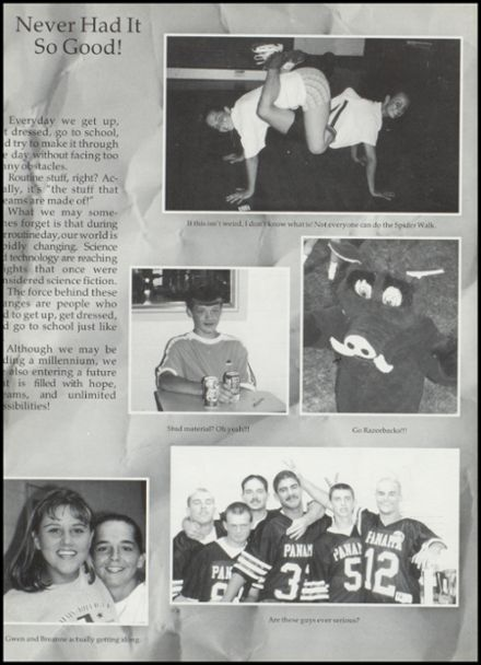 1999 Panama High School Yearbook Page 6