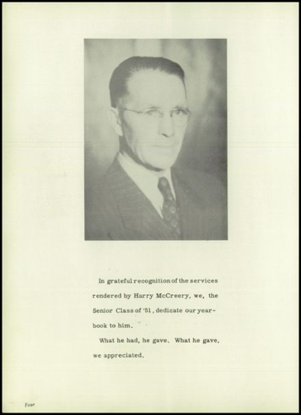 1951 Harrison Township High School Yearbook Page 6
