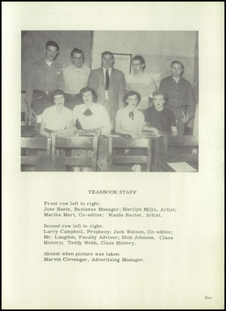 1951 Harrison Township High School Yearbook Page 7