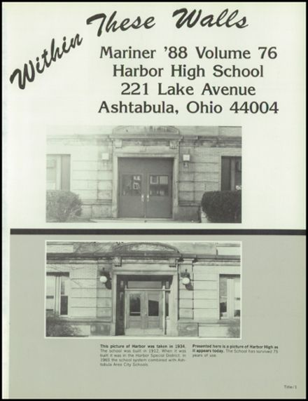 1988 Harbor High School Yearbook Page 5