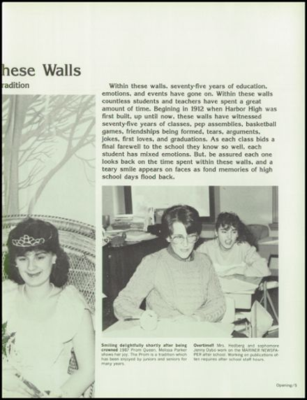 1988 Harbor High School Yearbook Page 9