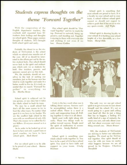 1973 Tri-Central High School Yearbook Page 8