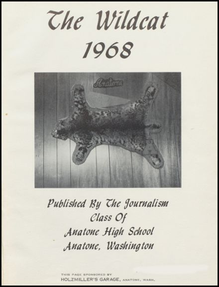 1968 Anatone High School Yearbook Page 5