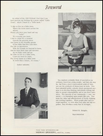1968 Anatone High School Yearbook Page 9
