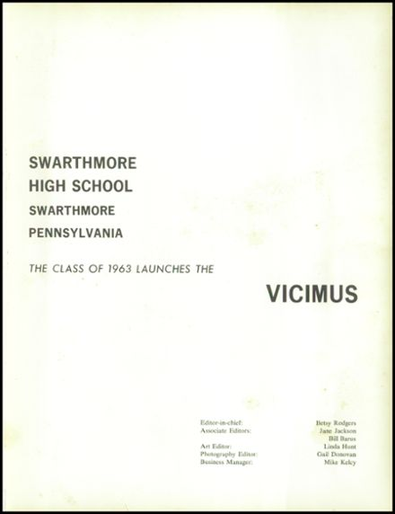 1963 Swarthmore High School Yearbook Page 5