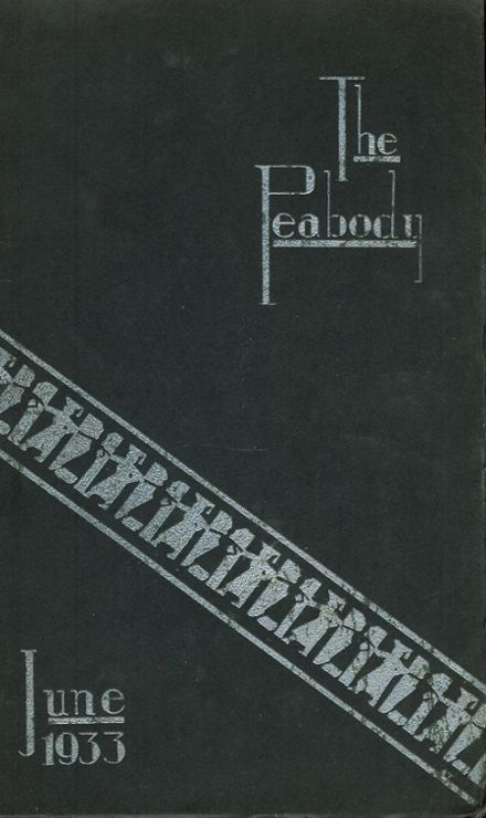 1933 Peabody High School Yearbook Cover