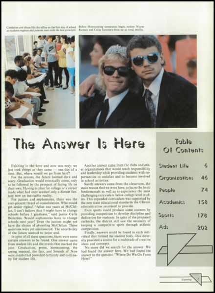 1987 McClellan High School Yearbook Page 7