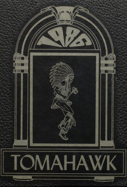 1986 Apache High School Yearbook Cover