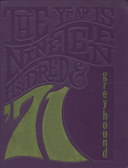 1971 Hildreth High School Yearbook Cover