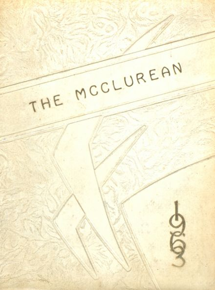 1963 McClure High School Yearbook Cover