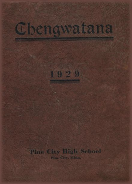 1929 Pine City High School Yearbook Cover