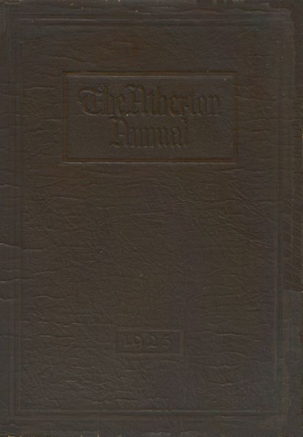 1925 Atherton High School Yearbook Cover