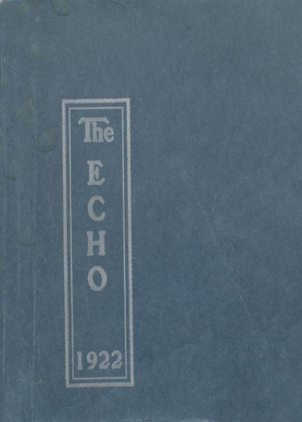1922 Bratton Union Consolidat High School Yearbook Cover