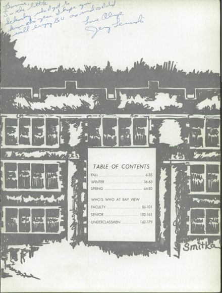 1968 Bay View High School Yearbook Page 9