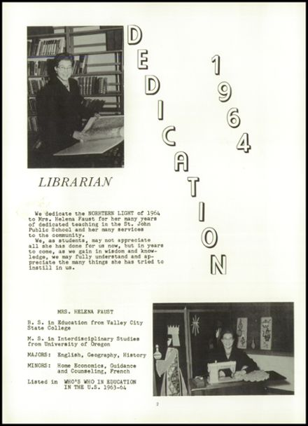 1964 St. John High School Yearbook Page 6
