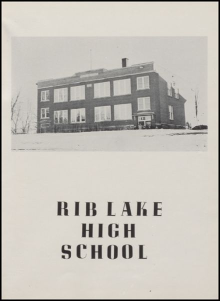 1958 Rib Lake High School Yearbook Page 5