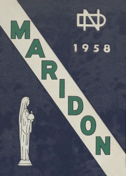 1958 Notre Dame Boys High School Yearbook Cover