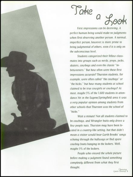 2001 Thurston High School Yearbook Page 7