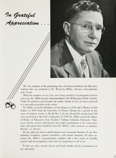 1959 P.S. DuPont High School Yearbook Page 9