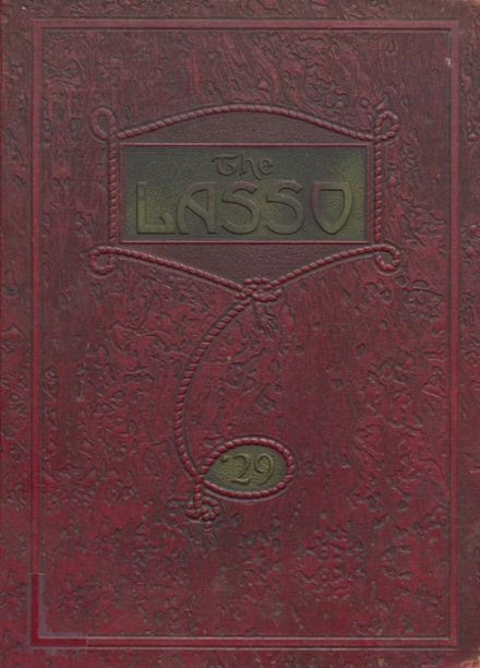 1929 North Side High School Yearbook Cover