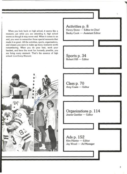 1986 Vernon High School Yearbook Page 7