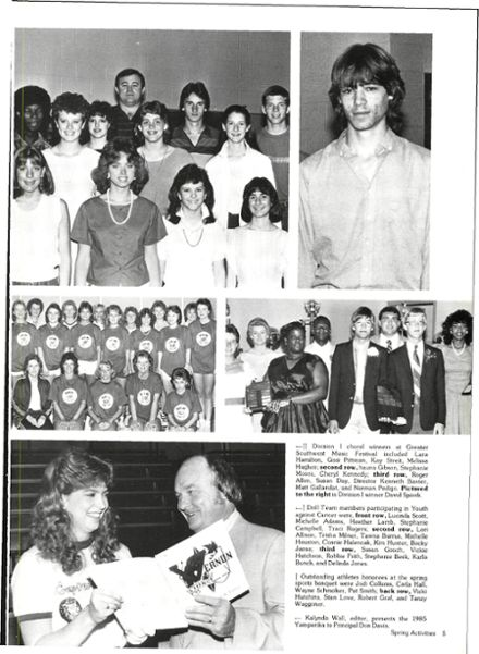 1986 Vernon High School Yearbook Page 9