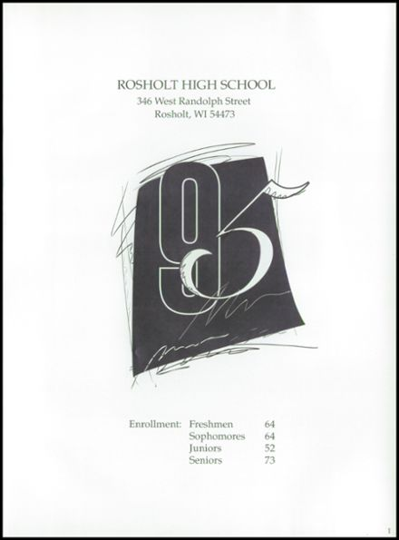 1995 Rosholt High School Yearbook Page 5