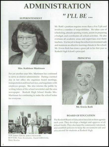 1995 Rosholt High School Yearbook Page 8