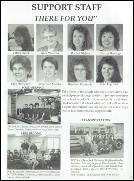 1995 Rosholt High School Yearbook Page 9
