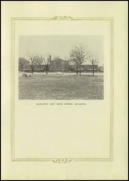 1922 Marlow High School Yearbook Page 7