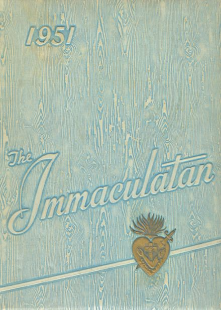 1951 Immaculate Heart of Mary Academy Yearbook Cover