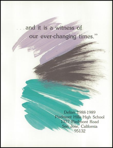1989 Piedmont Hills High School Yearbook Page 5