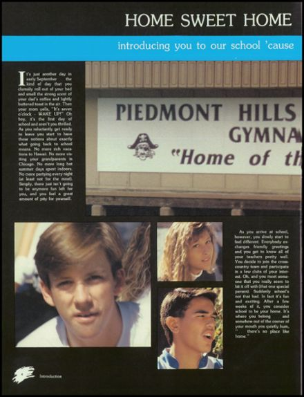 1989 Piedmont Hills High School Yearbook Page 8