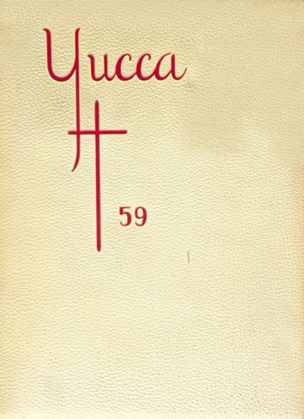1959 Los Angeles Pacific High School Yearbook Cover