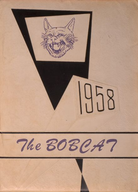 1958 Dimmitt High School Yearbook Cover
