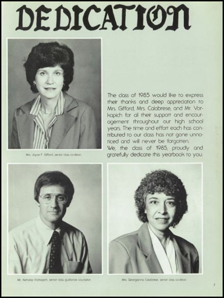 1985 Red Land High School Yearbook Page 7