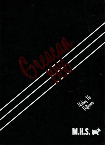 1986 Mclane High School Yearbook Cover