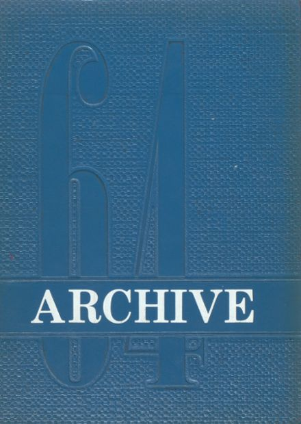 1964 Arcola High School Yearbook Cover