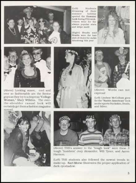1996 Timberlake High School Yearbook Page 9