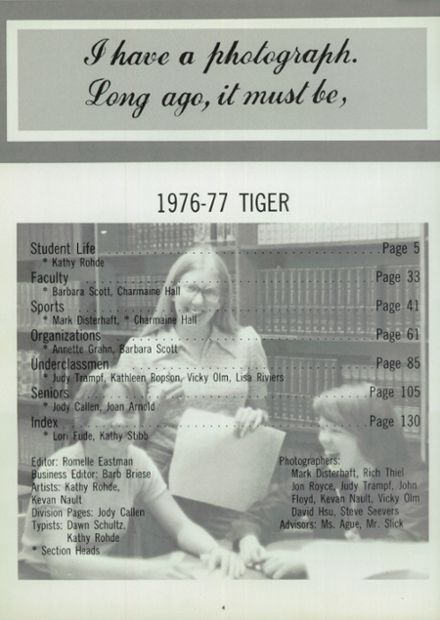 1977 Ripon High School Yearbook Page 8